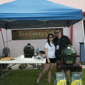 Big Green Egg grills booth