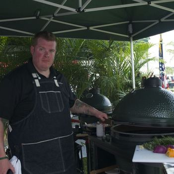 The Big Green Egg posing for another photo