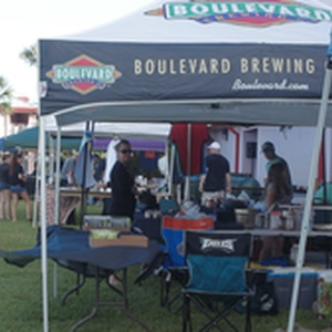 Boulevard Brewing at their booth at Eggfest