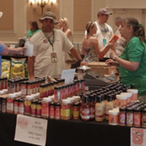 Rubs and seasonings on sale at Eggfest