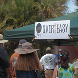 Overeasy's booth was plenty crowded