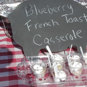 Blueberry French Toast Caserole available to attendees