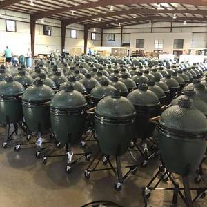 Soldiers all in a row, Big Green Eggs are ready to go