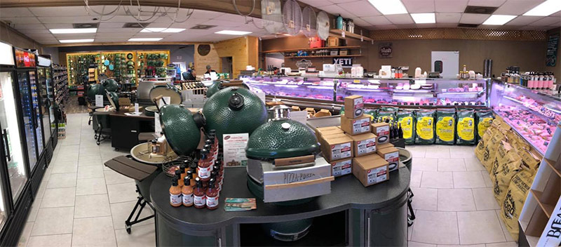 photo of inside Wassi's meat market